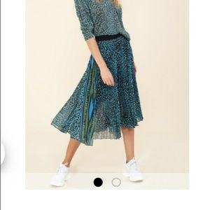 NWOT Hale Bob Midi Pleated Skirt Size M